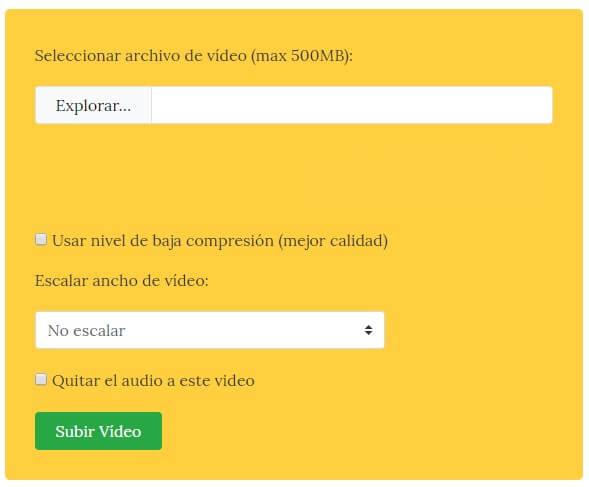 reducir peso de video mp4 online gratis