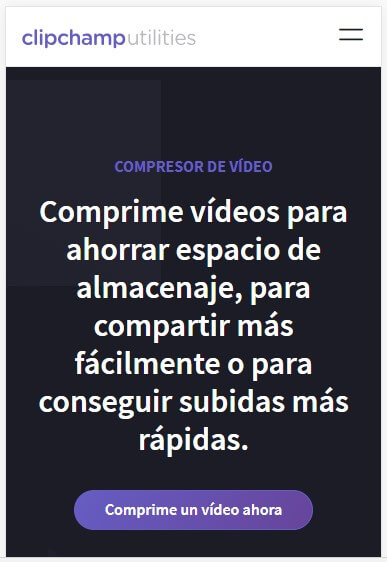 clipchamp comprimirvideos.com