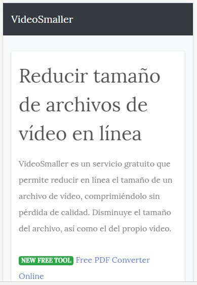 videosmaller comprimirvideos.com
